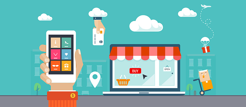 Online shopping via e-commerce